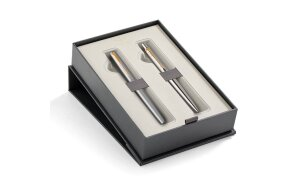 PARKER JOTTER STAINLESS STEEL WITH GOLD ROLLERBALL AND BALL PEN
